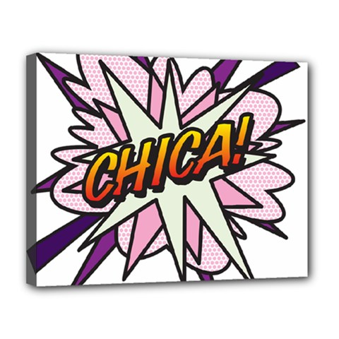 Comic Book Chica! Canvas 14  x 11  by ComicBookPOP