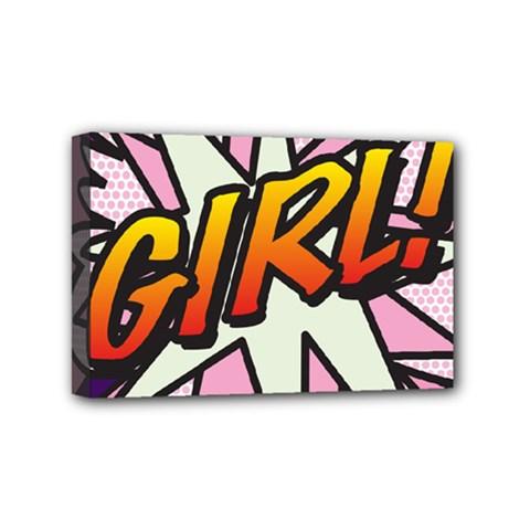 Comic Book Girl!  Mini Canvas 6  X 4  by ComicBookPOP