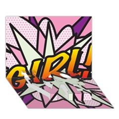 Comic Book Girl!  Love Bottom 3d Greeting Card (7x5)