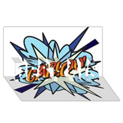 Comic Book Garcon! BEST SIS 3D Greeting Card (8x4)