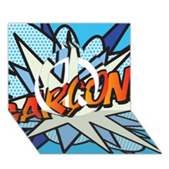 Comic Book Garcon! Peace Sign 3d Greeting Card (7x5)  by ComicBookPOP