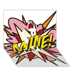 Comic Book Mine! Ribbon 3D Greeting Card (7x5)