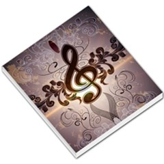 Music, Wonderful Clef With Floral Elements Small Memo Pads by FantasyWorld7
