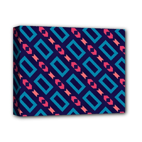 Rectangles And Other Shapes Pattern Deluxe Canvas 14  X 11  (stretched) by LalyLauraFLM
