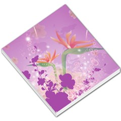 Wonderful Flowers On Soft Purple Background Small Memo Pads by FantasyWorld7