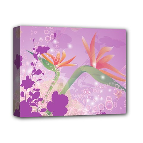 Wonderful Flowers On Soft Purple Background Deluxe Canvas 14  x 11  by FantasyWorld7