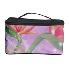 Wonderful Flowers On Soft Purple Background Cosmetic Storage Cases by FantasyWorld7