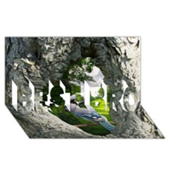 Bird In The Tree 2 BEST BRO 3D Greeting Card (8x4)