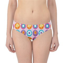 Chic Floral Pattern Hipster Bikini Bottoms by creativemom