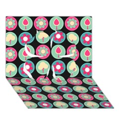 Chic Floral Pattern Clover 3d Greeting Card (7x5)  by creativemom