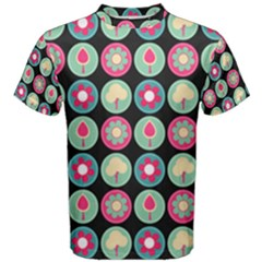 Chic Floral Pattern Men s Cotton Tees by creativemom
