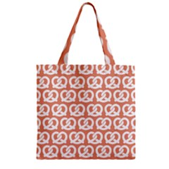 Salmon Pretzel Illustrations Pattern Zipper Grocery Tote Bags by creativemom