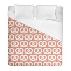 Salmon Pretzel Illustrations Pattern Duvet Cover Single Side (twin Size) by creativemom