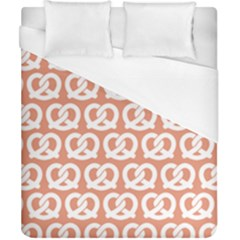 Salmon Pretzel Illustrations Pattern Duvet Cover Single Side (double Size) by creativemom
