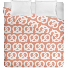 Salmon Pretzel Illustrations Pattern Duvet Cover (king Size) by creativemom