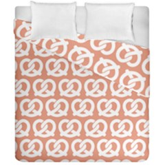 Salmon Pretzel Illustrations Pattern Duvet Cover (double Size) by creativemom