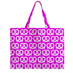 Pink Pretzel Illustrations Pattern Zipper Tiny Tote Bags by creativemom
