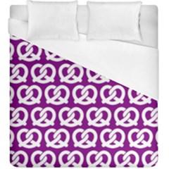 Purple Pretzel Illustrations Pattern Duvet Cover Single Side (kingsize)