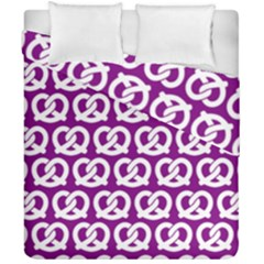 Purple Pretzel Illustrations Pattern Duvet Cover (double Size) by creativemom