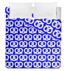 Blue Pretzel Illustrations Pattern Duvet Cover (Full/Queen Size) by creativemom