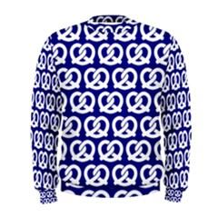 Navy Pretzel Illustrations Pattern Men s Sweatshirts by creativemom