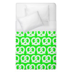 Neon Green Pretzel Illustrations Pattern Duvet Cover Single Side (Single Size) by creativemom