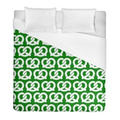 Green Pretzel Illustrations Pattern Duvet Cover Single Side (twin Size) by creativemom