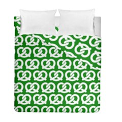 Green Pretzel Illustrations Pattern Duvet Cover (twin Size) by creativemom