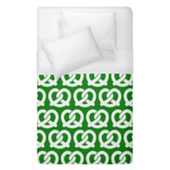 Green Pretzel Illustrations Pattern Duvet Cover Single Side (single Size) by creativemom