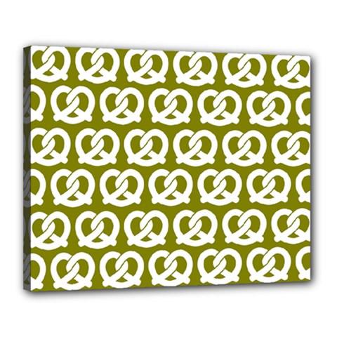 Olive Pretzel Illustrations Pattern Canvas 20  X 16  by creativemom
