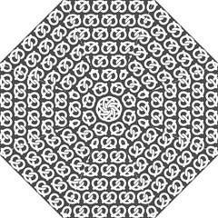 Gray Pretzel Illustrations Pattern Straight Umbrellas by creativemom