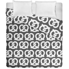 Gray Pretzel Illustrations Pattern Duvet Cover (double Size) by creativemom