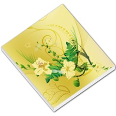 Wonderful Soft Yellow Flowers With Leaves Small Memo Pads by FantasyWorld7