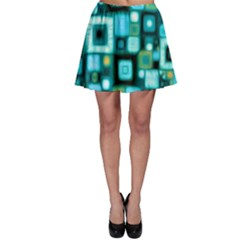 Teal Squares Skater Skirts by KirstenStarFashion