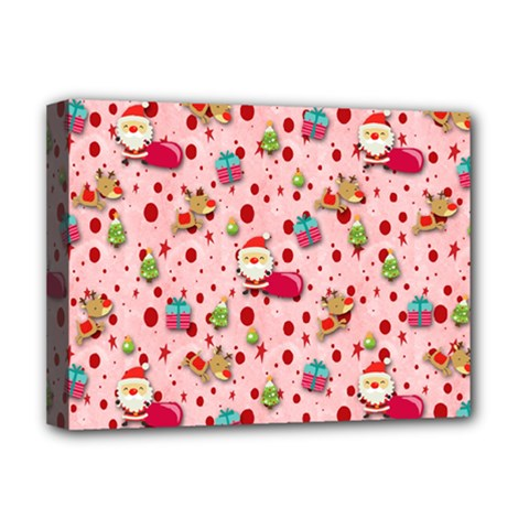 Red Christmas Pattern Deluxe Canvas 16  X 12   by KirstenStar