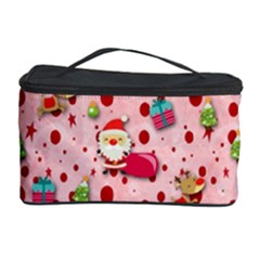 Red Christmas Pattern Cosmetic Storage Cases by KirstenStar