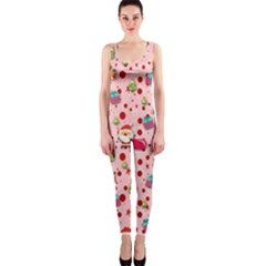 Red Christmas Pattern OnePiece Catsuits by KirstenStar