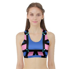 Alvilde Othelie  Women s Sports Bra with Border by CircusValleyMall