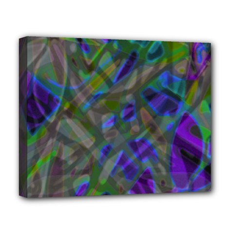 Colorful Abstract Stained Glass G301 Deluxe Canvas 20  X 16   by MedusArt