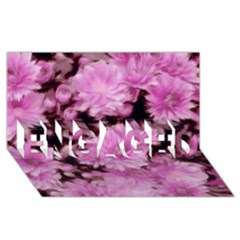 Phenomenal Blossoms Pink Engaged 3d Greeting Card (8x4)