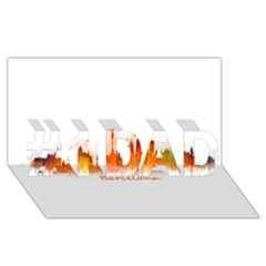 Barcelona City Art #1 Dad 3d Greeting Card (8x4)  by hqphoto