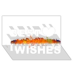 Barcelona City Art Best Wish 3d Greeting Card (8x4)  by hqphoto