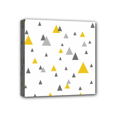 Pastel Random Triangles Modern Pattern Mini Canvas 4  x 4  by Dushan