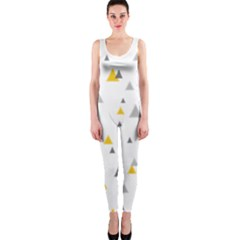 Pastel Random Triangles Modern Pattern Onepiece Catsuits by Dushan