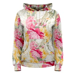 Colorful Floral Collage Women s Pullover Hoodies by Dushan