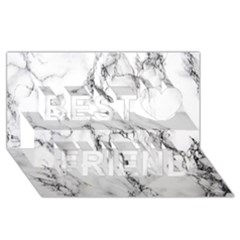 White Marble Stone Print Best Friends 3d Greeting Card (8x4)  by Dushan