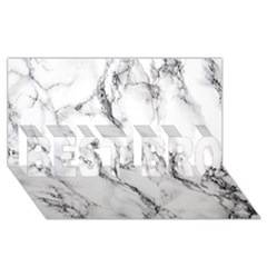 White Marble Stone Print Best Bro 3d Greeting Card (8x4)
