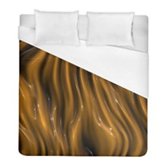 Shiny Silk Golden Duvet Cover Single Side (twin Size) by MoreColorsinLife