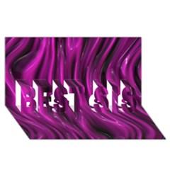 Shiny Silk Pink Best Sis 3d Greeting Card (8x4)