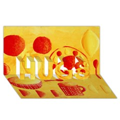Lemons And Oranges With Bowls  Hugs 3d Greeting Card (8x4)  by julienicholls